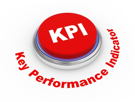 pushbuttons: 3d illustration of KPI   Key Performance Indicator   button Stock Photo