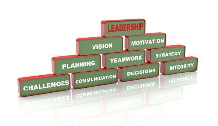 piramide humana: Ilustración 3d de la pirámide del concepto de liderazgo
