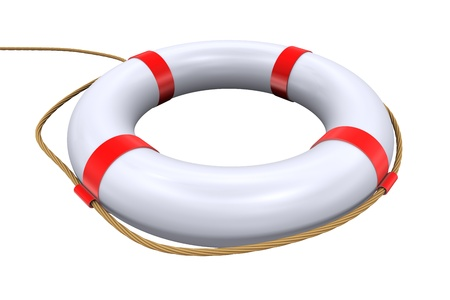 ring life: 3d Illustration of isolated lifebuoy ring - life preserver