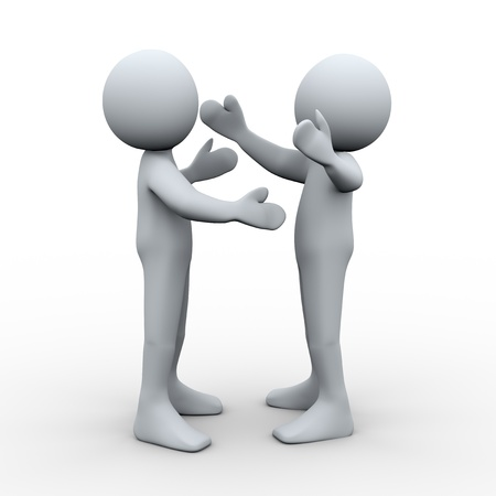 guests: 3d Illustration of man huging each other. 3d rendering of human character