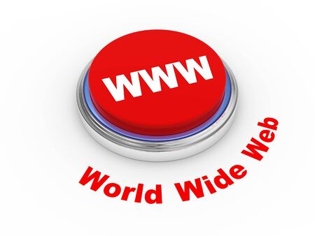 world wide web: 3d illustration of WWW   World Wide Web   button