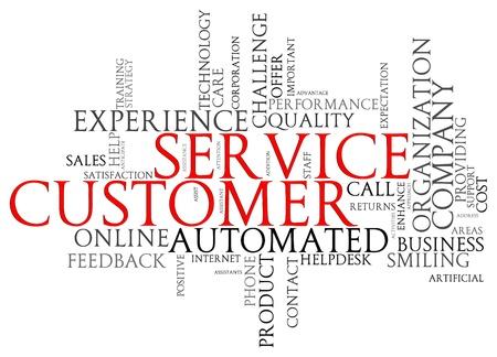helpline: Illustration of customer service words tags