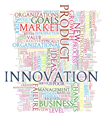 Illustration of innovation wordcloud Stock Illustration - 20959027
