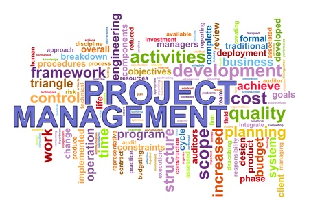 Illustration des Projektmanagements wordcloud Standard-Bild - 21023006
