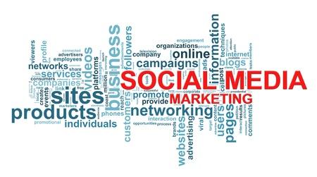 weblog: Illustration of wordcloud of social media marketing concept