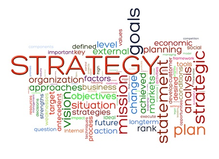 approaches: Illustration of strategy wordcloud word tags