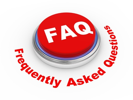 3d illustration of faq  frequently asked questions  button