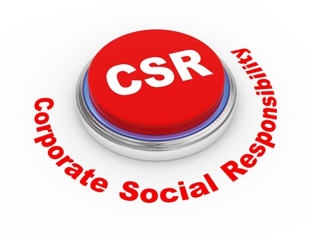 corporate responsibility: 3d illustration of csr  corporate social responsibility button