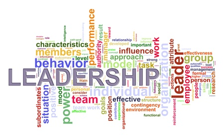 leadership management: Illustration of wordcloud word tags of