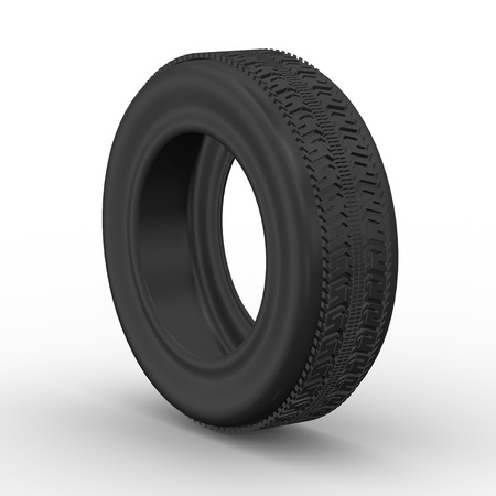 3d rendering of detail tyre on white background Stock Photo - 21023612