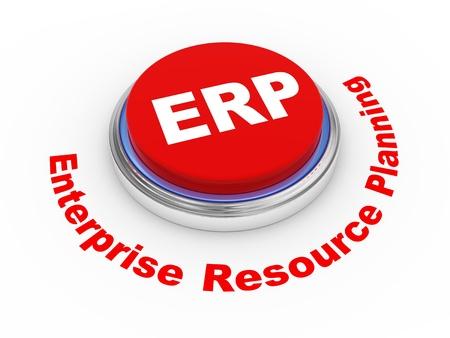 3d illustration of ERP Enterprise Resource Planning illustration
