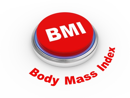 3d illustration of BMI   Body Mass Index  button Stock Illustration - 21053936