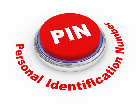 personal identification number: 3d illustration of PIN   Personal identification number  button Stock Photo