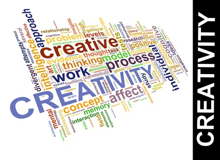 personality development: Illustration of worldcloud word tags of creativity