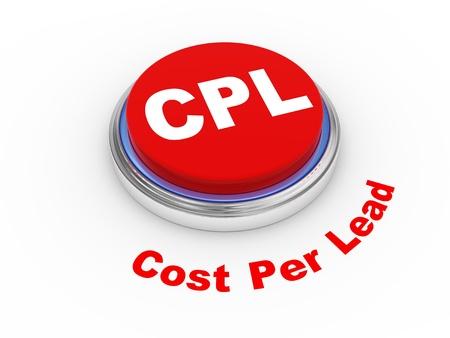 cpl: 3d illustration of cpl - cost per lead button