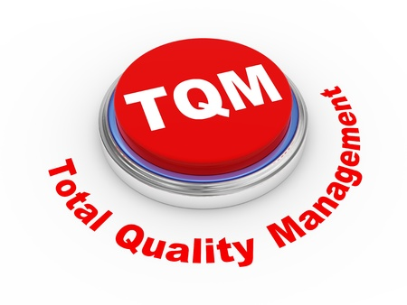 suppliers: 3d illustration of tqm  total quality management button
