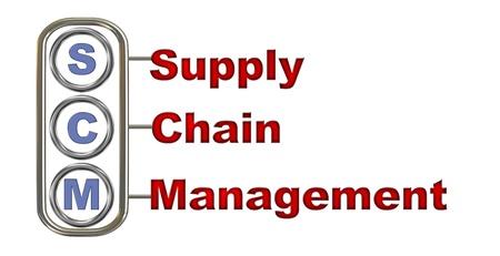 3d illustration design of concept of scm - supply chain management illustration