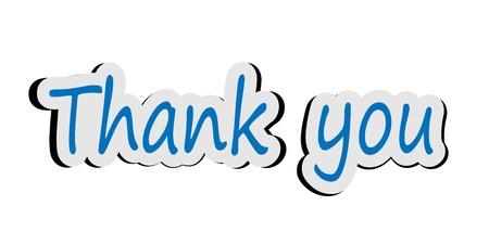 Illustration of word thank you sticker illustration