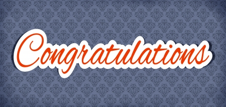 congratulations word: Illustration of word congratulation sticker