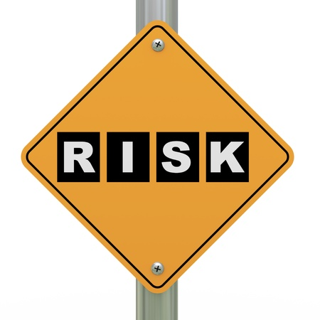 3d illustration of yellow roadsign of risk illustration