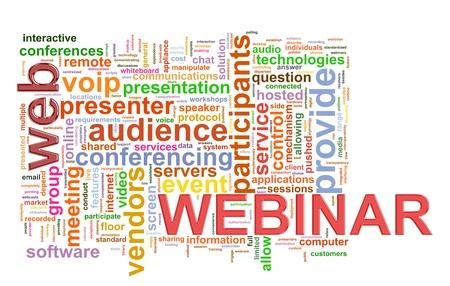webcast: Illustration of wordcloud word tags of webinar