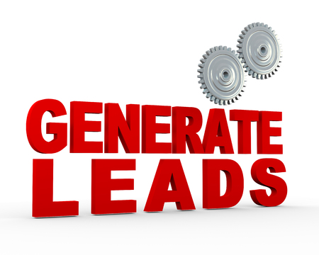referrals: 3d illustration of  phrase genrate leads and gears