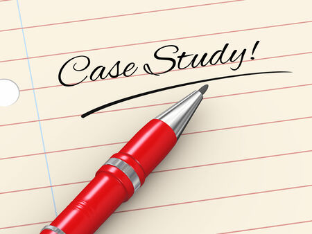 3d render of pen on paper written case study photo