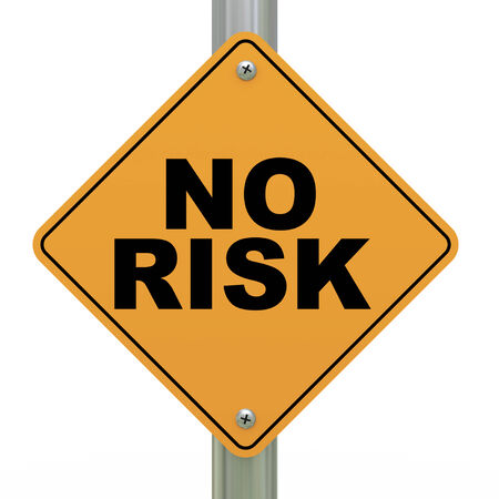 3d illustration of yellow roadsign of no risk illustration