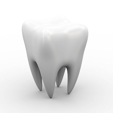 dental hygienist: 3d illustration of tooth on white background
