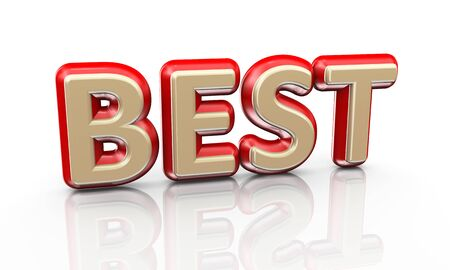 commitments: 3d illustration of word text best on reflective background