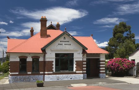barrack: Old post office in country village in Victoria, Australia Stock Photo