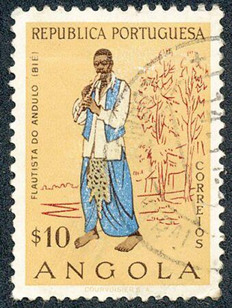 angola: ANGOLA – 1957: Peoples of Angola Stock Photo
