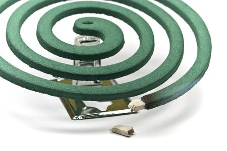 mozzie: Burning mosquito coil as anti insect Stock Photo