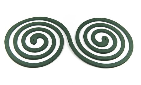 Two spiral (mosquito coil) on white background photo