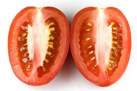 longitudinal: Roma tomato � longitudinal section