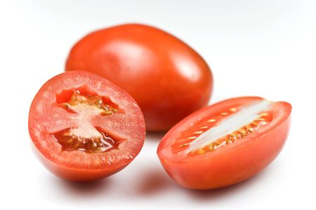Roma tomatoes � shallow DOF on the cuts Stock Photo - 6690352