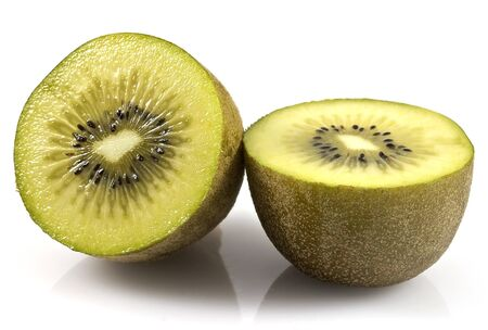 Golden Kiwi fruit halved photo