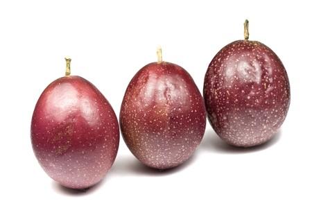Whole Panama Passion Fruit Stock Photo