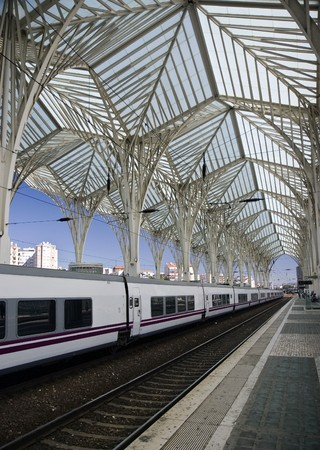 Modern Train Station Stock Photo - 7841504