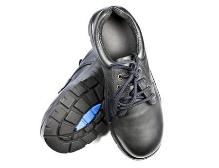 Steel Cap Safety Shoes Stock Photo