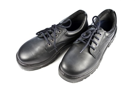 safety shoes: Steel Cap Safety Shoes Stock Photo