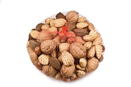 bagged: Bagged Mixed Nuts Stock Photo