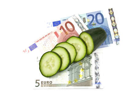 Costly cucumbers Stock Photo - 9758945
