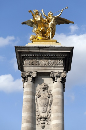 iii: Paris Pont Alexandre III Stock Photo