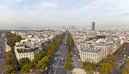 Avenue de la Grande Arm�e in Paris, France photo