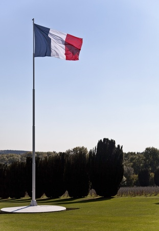 Verdun and the French Flag Stock Photo