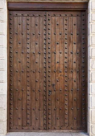 mudejar: Doors of the Royal Gothic Convent in Tordesilhas, Spain