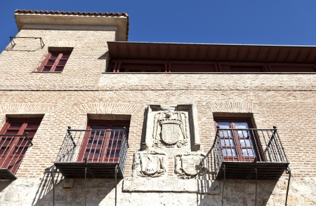 verandas: The coat of arms of the Catholic Monarchs and the house owners in 1494