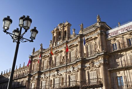 Salamanca Plaza Mayor - Lamppost Stock Photo - 13744076