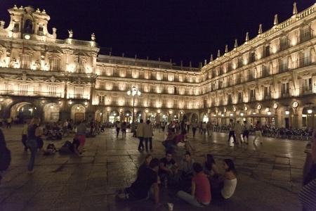 a nocturne: Salamanca Plaza Mayor
